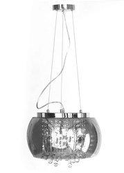 Lampa Szklana Przydymione Lustro krople wody 40cm